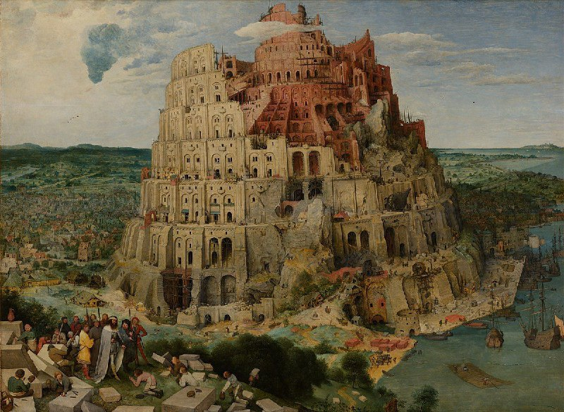 The Tower of Babel by Pieter Bruegel (۱۵۲۵-۱۵۶۹)